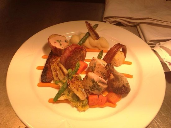 Kirkmichael Arms: Chicken Breast stuffed with Truffle Mousse