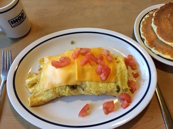 IHOP: My garden omellette, with pancakes included for afters.