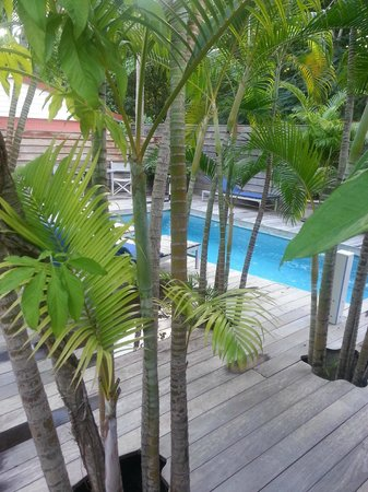 Poolside area at the Normandie Hotel, St. Barts
