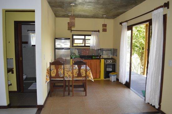 Areia Branca Apart Hotel: cocina comedor