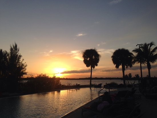 Club Med Sandpiper Bay: Sunset at adult pool.