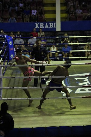Ao Nang Krabi Thai Boxing Stadium: It was very cool seeing these guys fight up close.