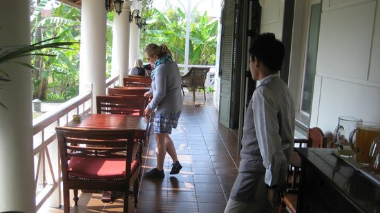 The Luang Say Residence: breakfast area