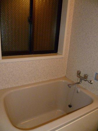 Hotel Senkei: Bathroom (no heater in cold autumn!)