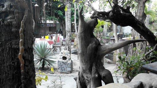 Sunset Restaurant: Все растения сделаны в виде животных :)