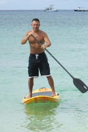 Nachi Cocom Beach Club & Water Sport Center: paddle boarding ! available at Nachi