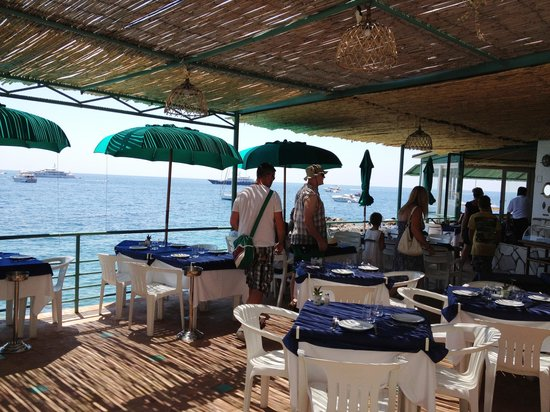 Marina Piccola: Nice food at restaurant overlooking beach