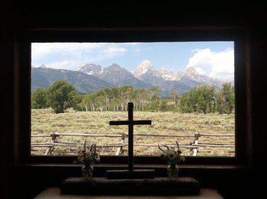 The Teton Mountains Across Jackson Lake Picture Of