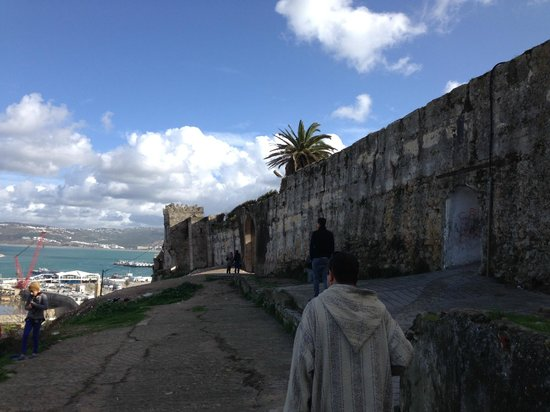 Tangier Casbah: A view from along the Casbah wall outside