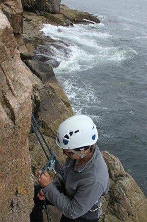 Atlantic Climbing School: Rappelling on Otter Cliffs