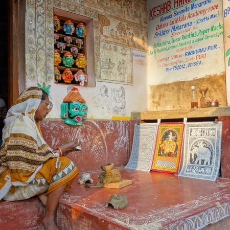 Puri, Indien: dans l'une des 2 rues principales