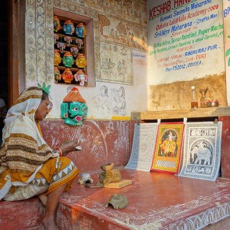 Puri, India: dans l'une des 2 rues principales