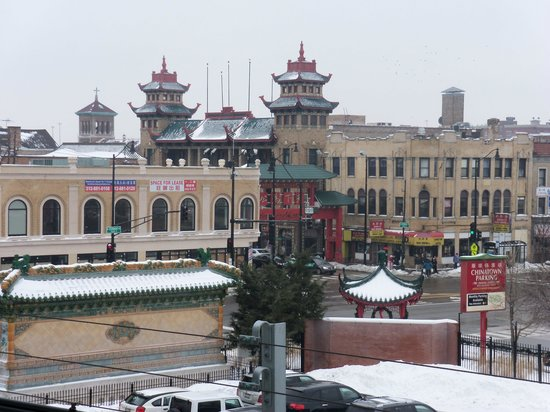 Chicago Chinatown: View from the subway.