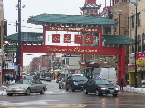 Chicago Chinatown: Main entrance to Chinatown.