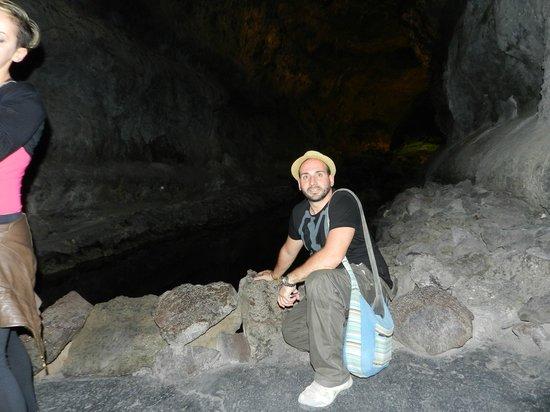 Cueva de los Verdes: dentro la colata