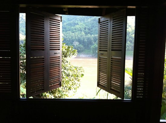 The Luang Say Lodge: Blick vom Bungalow auf den Mekong