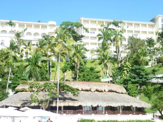 Grand Bahia Principe Cayacoa : Main Hotel Area - picture taken from the dock
