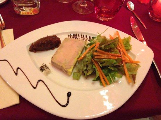 Le nouveau monde : Foie gras avec sa confiture de figue