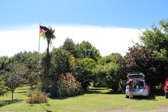 Redcliffe Homestead: German Flag for German guests