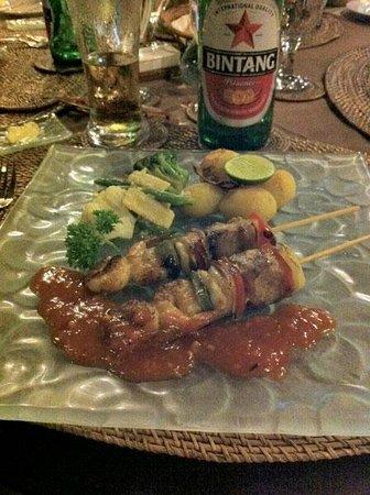 Hotel Villa-Ubud : La exquisita presentación de los platos