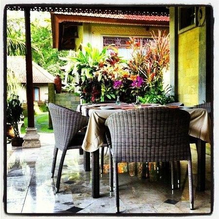 Hotel Villa-Ubud: Vista de la villa mientras desayunábamos