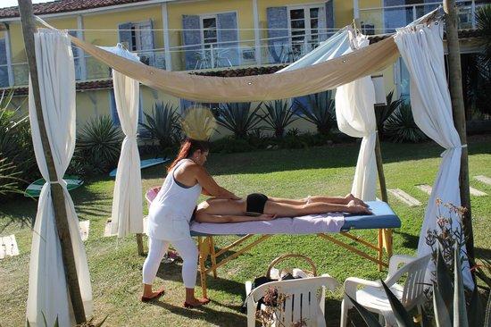 Pousada Dos Gravatas: Massagem com uma vista maravilhosa