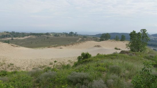 Sleeping Bear Dunes National Lakeshore : Sand dunes.