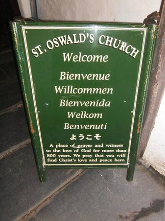 St. Oswald's Church: At the entrance.