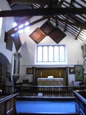 St. Oswald's Church: The inscription says Resurgam ('I will rise again')