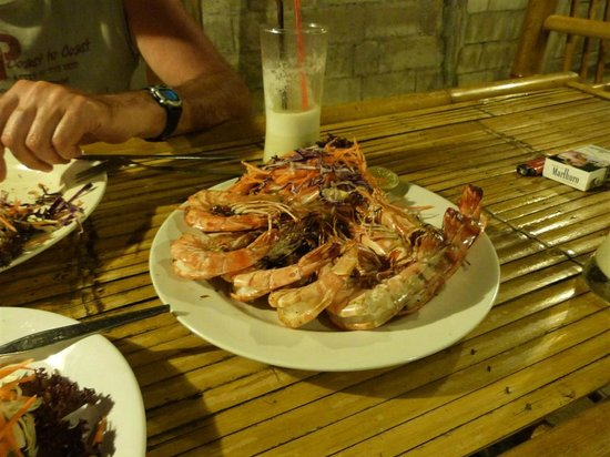 Luck Yim: Barbeque tiger prawns