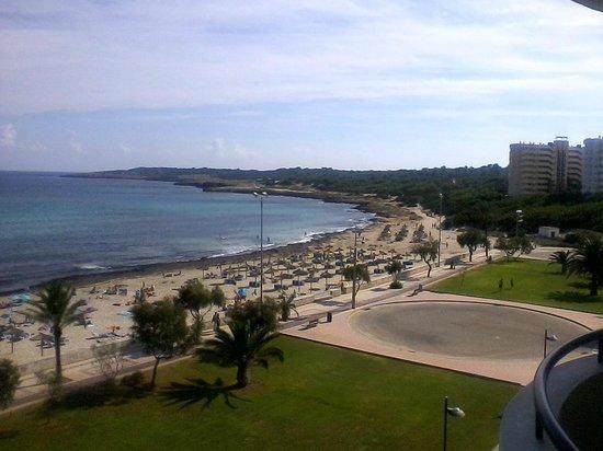 Hipotels Hipocampo Playa Meerblick vom Balkon aus rechts