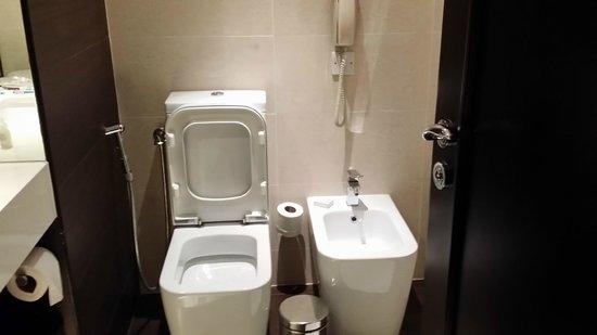 JA Jebel Ali Beach Hotel: spooky square toilet
