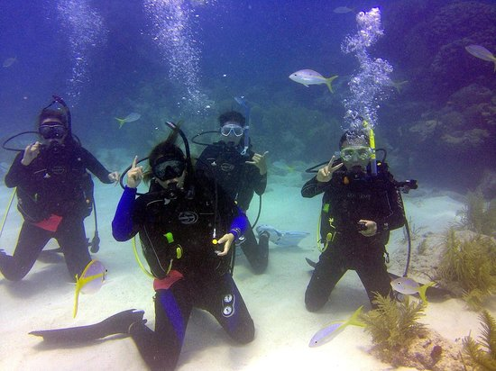 U.S.1 Dive Center: Open Water students Looe Key