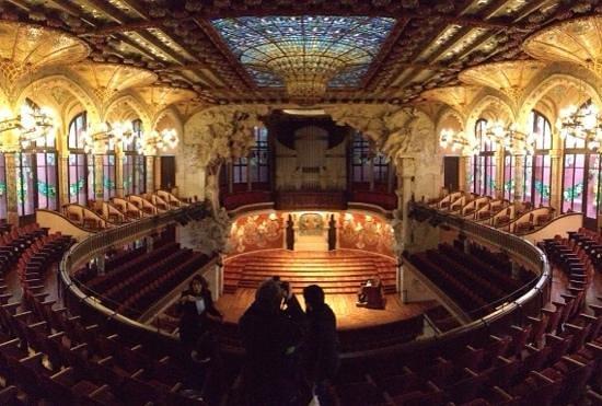 Palais de la Musique Catalane (Palau de la Musica Catalana) : interno