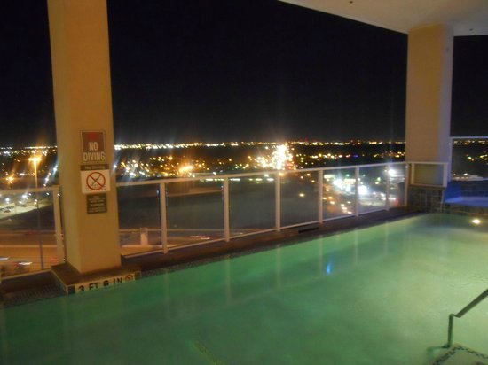 "The Westin Houston Memorial City: The infinity"" pool at night"