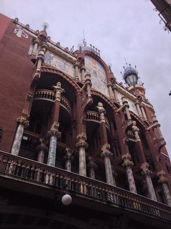 Palais de la Musique Catalane (Palau de la Musica Catalana) : facciata
