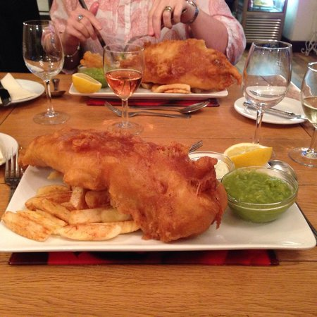 The Ship Inn: The large cod and chips :-)