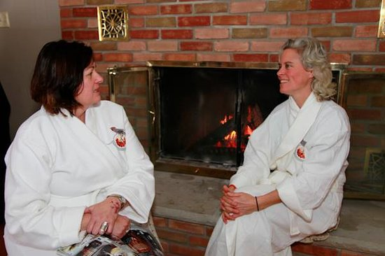 Mountain Ash Farm: Cozy wood burning fireplace