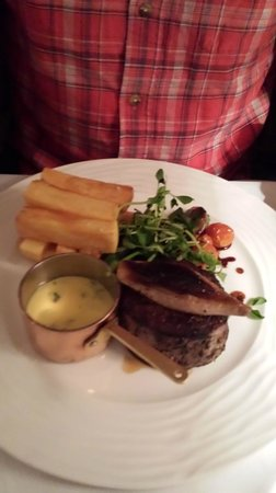 Boscundle Manor Hotel Restaurant and Spa : Fillet steak