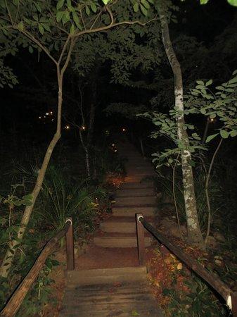 Aqua Wellness Resort: Stairs at night