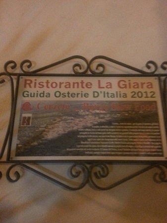 """La Giara: Ristorante segnalato su """"Osterie d'Italia"""" Slow Food."""