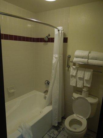 Folk Inn Ontario Airport: Shower & toilet room 229