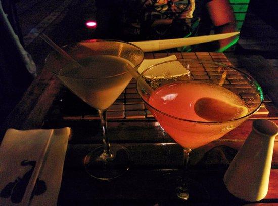 Elefanta Indian Cuisine : tangerine and coconut martinis