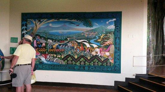 Masaya Volcano National Park: Parte del museo en el volcan masaya
