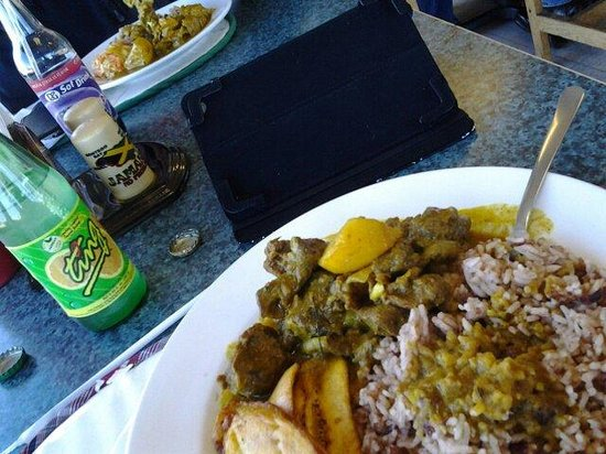 Jamaican Flavor: Curry goat and ting