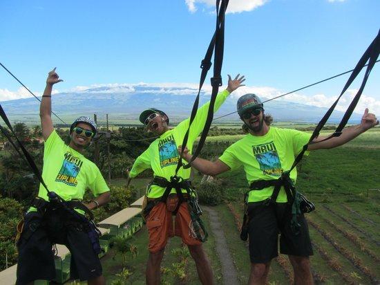 Maui Zipline Company: Kaulana, Ion and Eric!  Mahalo guys!