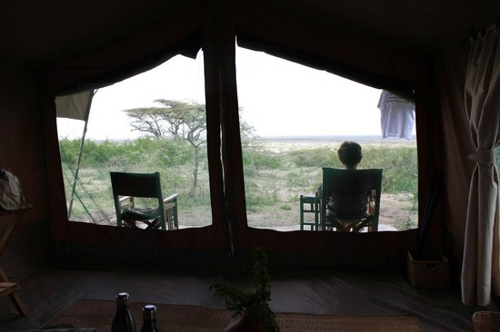 Ubuntu Camp, Asilia Africa: Our tent (number 1) nothing in sight front and side but thousands of acres of Serengeti