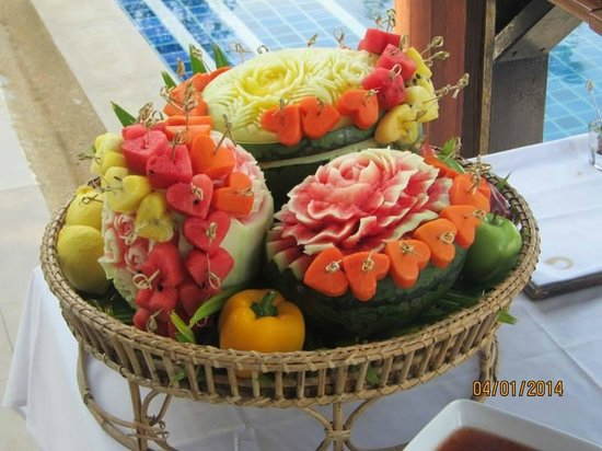 The Village Coconut Island Beach Resort : fruit at the weding