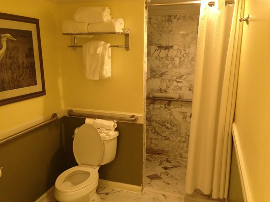 LaPlaya Beach & Golf Resort, A Noble House Resort : Marble everywhere...shower walls, floors, sink.