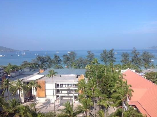 Patong Beach Hotel: view from my rooms deck